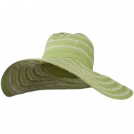 Women's Hat with Stitching And Loop Detail - Green