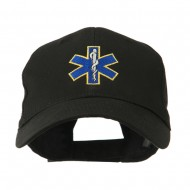 Star of Life Embroidery Cap - Black
