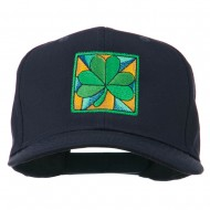 St Patrick's Day Clover Leaf Embroidered Cap - Navy