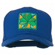 St Patrick's Day Clover Leaf Embroidered Cap - Royal