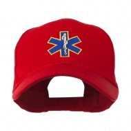 Star of Life Embroidery Cap - Red