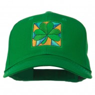 St Patrick's Day Clover Leaf Embroidered Cap - Kelly