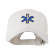 Star of Life Embroidery Cap - White