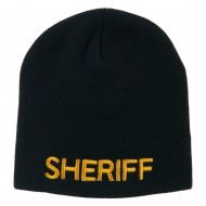 Sheriff Military Embroidered Beanie - Navy