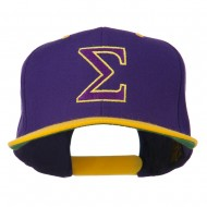 Greek Alphabet SIGMA Embroidered Two Tone Cap - Purple Gold