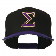 Greek Alphabet SIGMA Embroidered Two Tone Cap - Black Purple