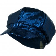 Sequin Newsboy Cap - Blue