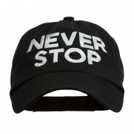 Never Stop Embroidered Washed Cap - Black