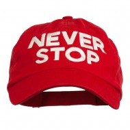 Never Stop Embroidered Washed Cap - Red