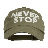 Never Stop Embroidered Washed Cap - Olive