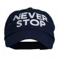 Never Stop Embroidered Washed Cap - Navy
