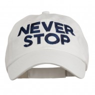 Never Stop Embroidered Washed Cap - White