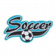 Soccer Embroidered Patches - Blue
