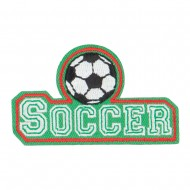 Soccer Embroidered Patches - Green