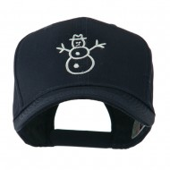 Christmas Snowman Outline Embroidered Cap - Navy