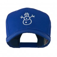 Christmas Snowman Outline Embroidered Cap - Royal