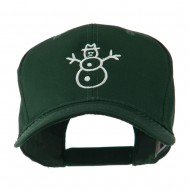 Christmas Snowman Outline Embroidered Cap - Green