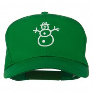 Christmas Snowman Outline Embroidered Cap - Kelly