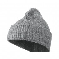 Sparkle Knitted Cuff Beanie - Light Grey