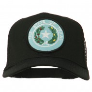 Texas State Seal Patched Cotton Twill Mesh Cap - Black