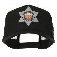USA Security Officer Patched Mesh Back Cap - Black