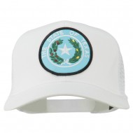 Texas State Seal Patched Cotton Twill Mesh Cap - White