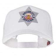 USA Security Officer Patched Mesh Back Cap - White