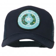 Texas State Seal Patched Cotton Twill Mesh Cap - Navy