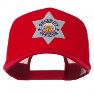 USA Security Officer Patched Mesh Back Cap - Red