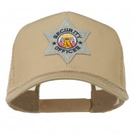 USA Security Officer Patched Mesh Back Cap - Khaki