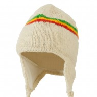 Solid RGY Jaquard Beanie-Off White RGY