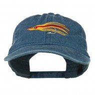 Salmon Squid Rig Embroidered Washed Cap - Navy