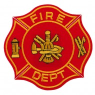 USA Security Rescue Patches - Red Fire