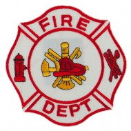 USA Security Rescue Patches - White Fire