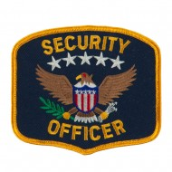 USA Security Rescue Patches - Black Officer
