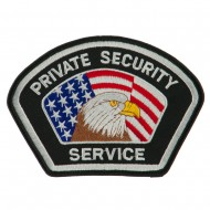 USA Security Rescue Patches - Black Private