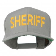 Sheriff Embroidered Snapback Cap - Silver