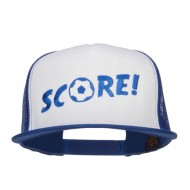 Soccer Score Embroidered Classic Trucker Cap - Royal