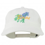 Texas State Bluebonnet Flower Embroidered Cap - White