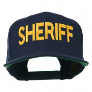 Sheriff Embroidered Snapback Cap - Navy