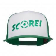 Soccer Score Embroidered Classic Trucker Cap - Kelly