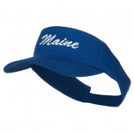 Maine State Embroidered Sun Visor - Royal