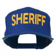 Sheriff Embroidered Snapback Cap - Royal