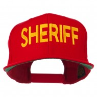 Sheriff Embroidered Snapback Cap - Red