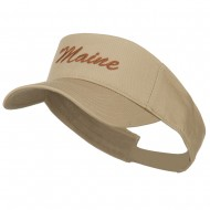 Maine State Embroidered Sun Visor - Khaki