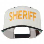 Sheriff Embroidered Snapback Cap - Natural Black