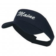 Maine State Embroidered Sun Visor - Navy