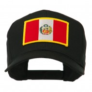South America Flag Embroidered Patched Cap - Peru
