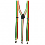 Color Striped Suspenders - RGY