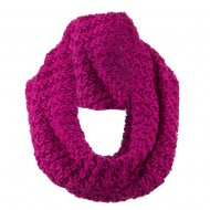 Solid Thick Ribbed Neck Warmer - Fuchsia